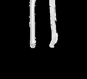 Nelaton, rundad och rak kateterspets